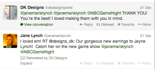 Jane Lynch DK Designs Jewelry