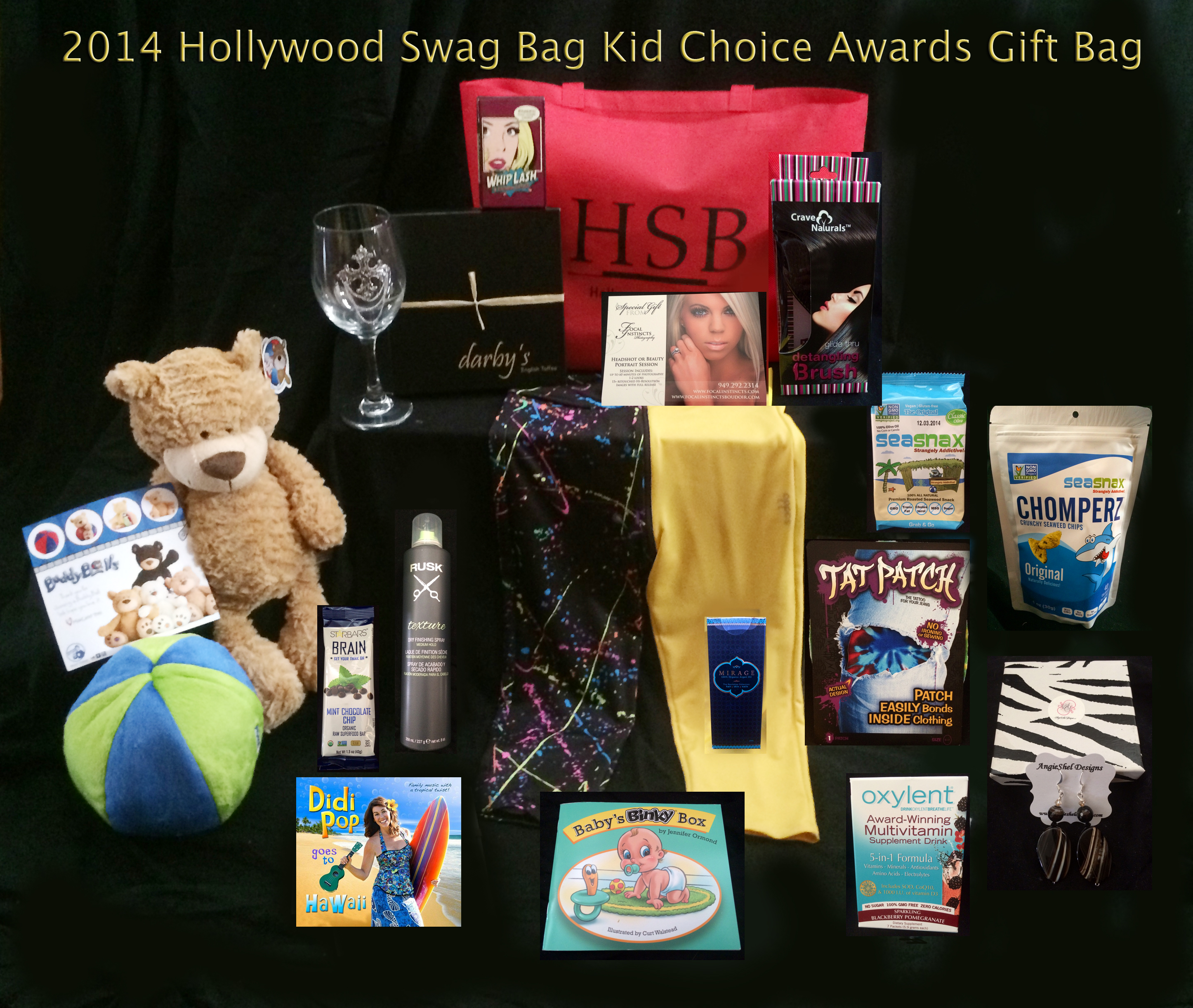 Hollywood Swag Bag Swags The Nominees for The 2014 Kids Choice ...
