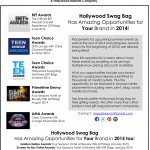 Hollywood Swag Bag Upcoming Gift Bag abd Gift Lounge Placement Opportunities
