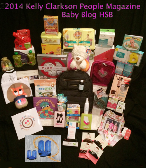 Hollywood Swag Bag Hollywood Baskets baby basket for Kelly Clarkson featured in  People Magazine Baby Blog