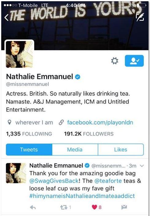 TweetNathalieEmmanuel