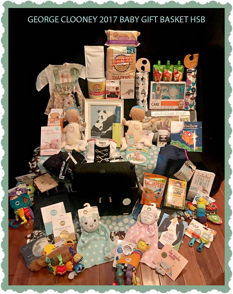 Baby Gift Baskets Beverly Hills : George clooney baby gift basket for new twins from